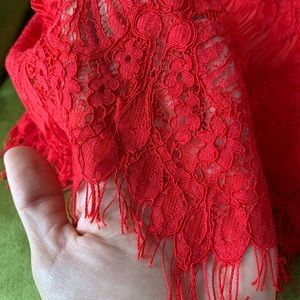 PINKMINK DRAMA QUEEN DRESS- RED, LONG-SLEEVED